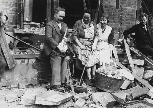After surviving another night of german bombing in mid for How many homes were destroyed in germany in ww2