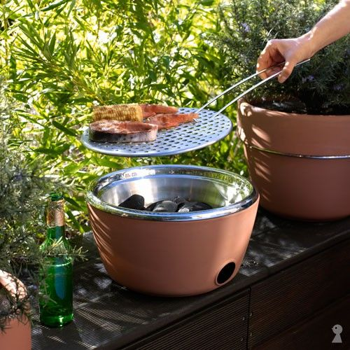 Small Balcony Grills for Tiny Studio Apartments | Plus, It's Also A Planter