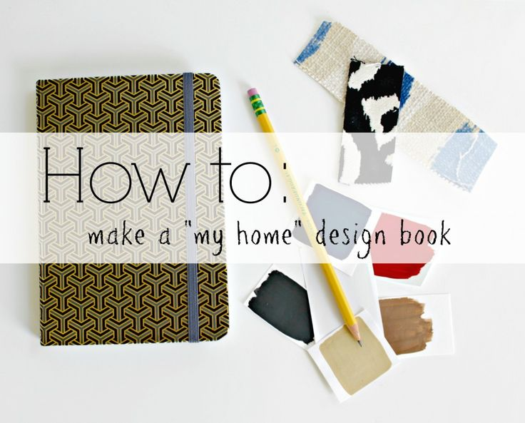 """how to make a my home design book - doing this. Such a great idea and will organize those fabric swatches I've had in purse forever """"just in case"""" I need them!"""