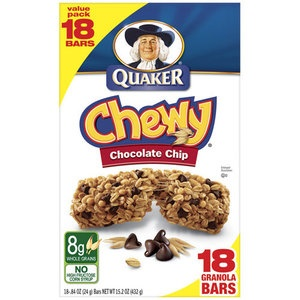 Chewy Chocolate Chip Granola Bars, 18 ct | Granola Bars, Granola ...