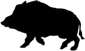 Image result for pig hunting dog silhouette