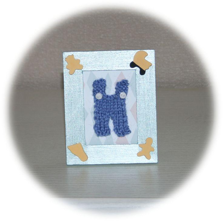 Mini cadre vert salopette (vendu)