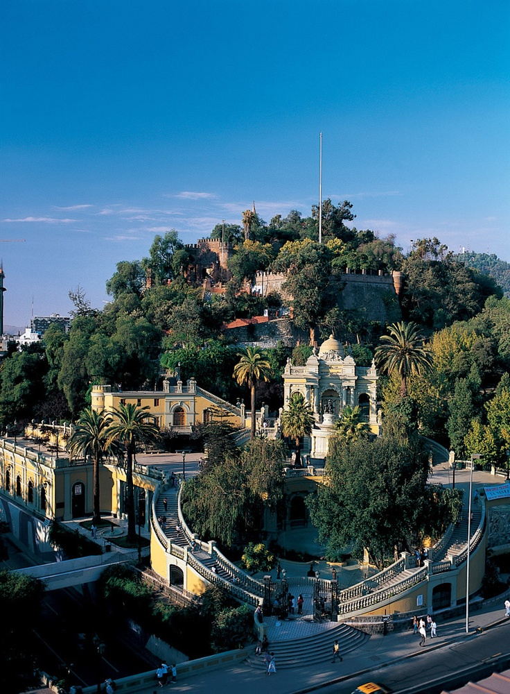 Santa Lucía hill #santiago #chile #hill #architecture