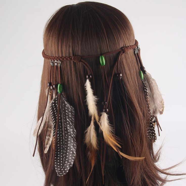 Native American Indian Feather Headband Festival Headdress Hair Accessories 4I3013