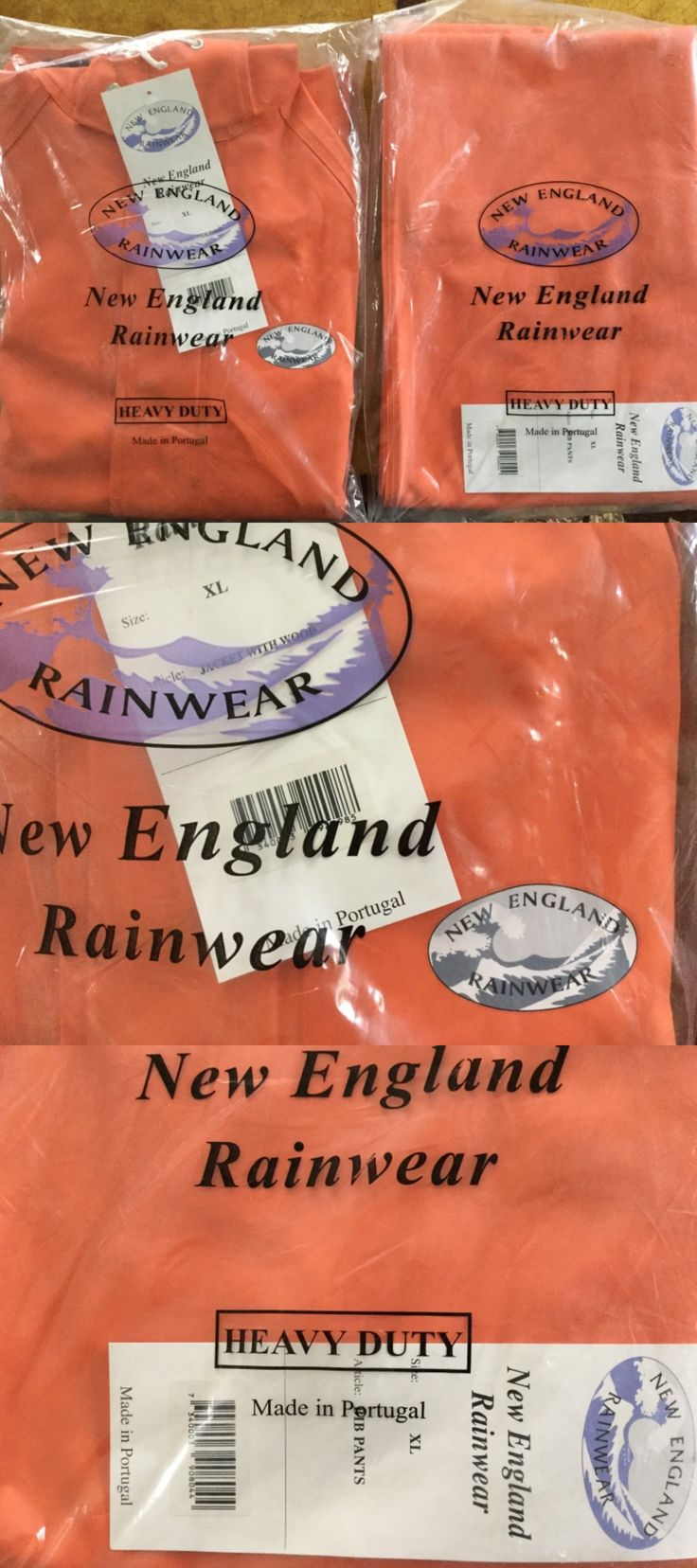Jacket and Pants Sets 179981: Heavy Duty New England Rainwear Extra Large Complete Head To Toe Coverage. New -> BUY IT NOW ONLY: $39.95 on eBay!