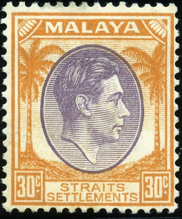 King George VI Malaya - Straits Settlement - 1937