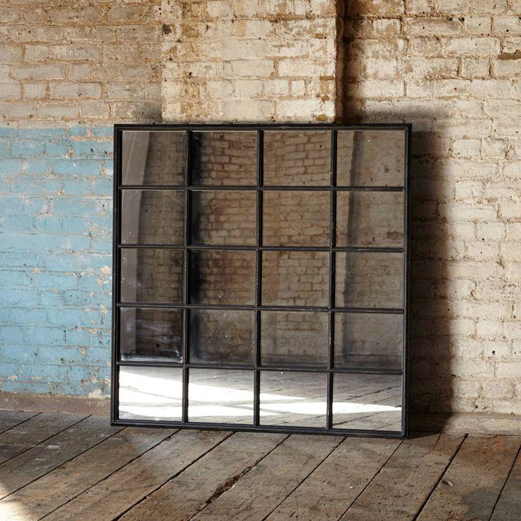 17 best ideas about window mirror on pinterest country - Miroir metal industriel ...