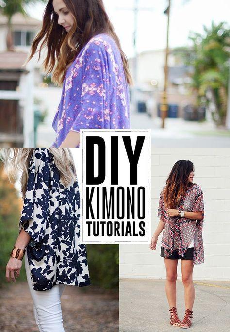 6 Tutos pour Kimonos persos