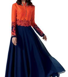 Buy Heart & Soul Designer Wedding & Party Wear Fully Stitched Embroidery Designer Salwar Suits Dupatta L size for women readymade-suit online