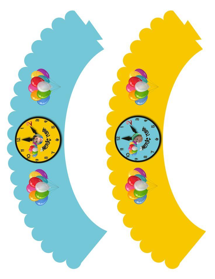 saat temalı cupcake sarıcıları