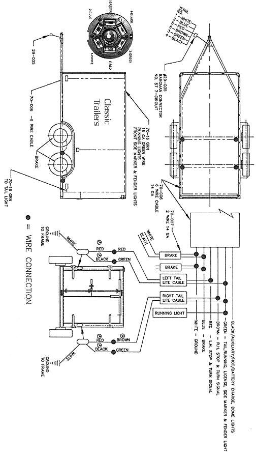 seven way trailer wire diagram