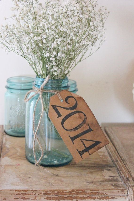 Antiqued graduation party decor class of rustic