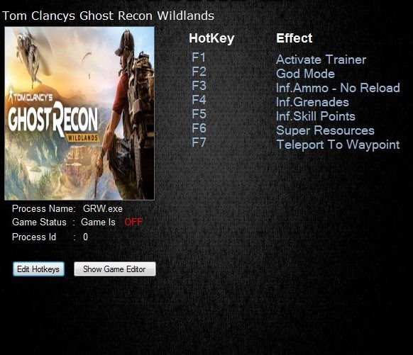 OM CLANCY'S GHOST RECON WILDLANDS TRAINER | Gaming Tools for