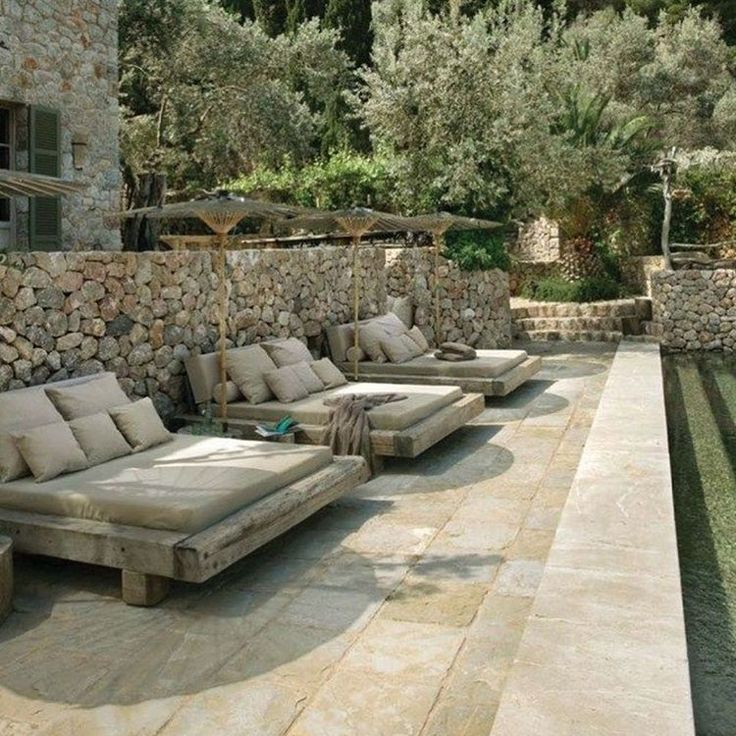 Stone walls and olive trees