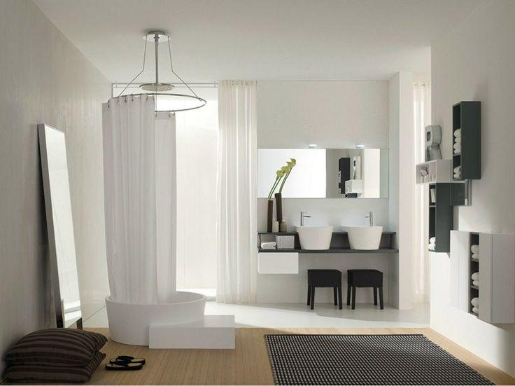 Comp C 09 cm 160 x 52 laccato grigio/bianco opaco lavabo in teknorit bianco /