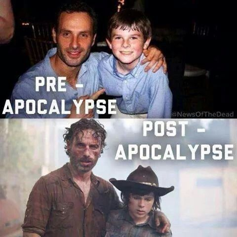 The Walking Dead. Father and son.