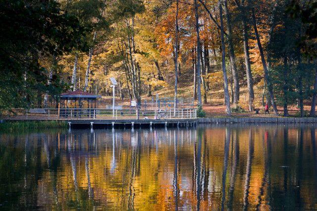 Wałcz - Lake Raduń in autumn