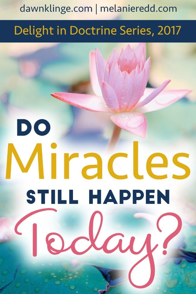 do miracles still happen today In many cases, people ought to be praying for miracles, for healings, for whatever it is whether god answers it in the way we want or doesn't is his business but it is our business to pray and to pray with faith, knowing that if god can do all these things that he has done in the pages of this book.