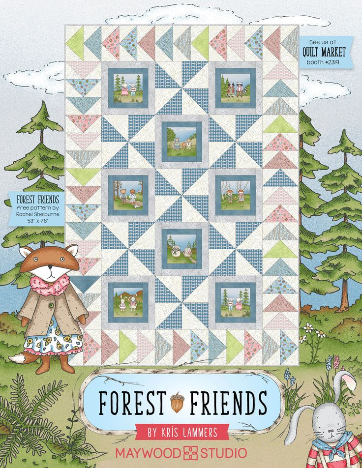 Forest Friends in American Quilt Retailer, April