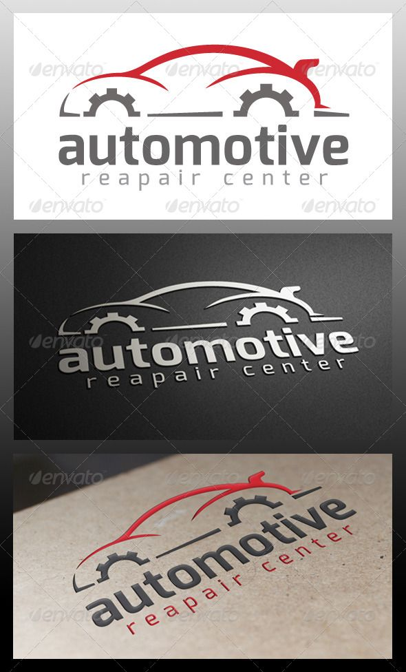Automotive Repair  - Logo Design Template Vector #logotype Download it here: http://graphicriver.net/item/automotive-repair-logo-template/5344091?s_rank=762?ref=nexion