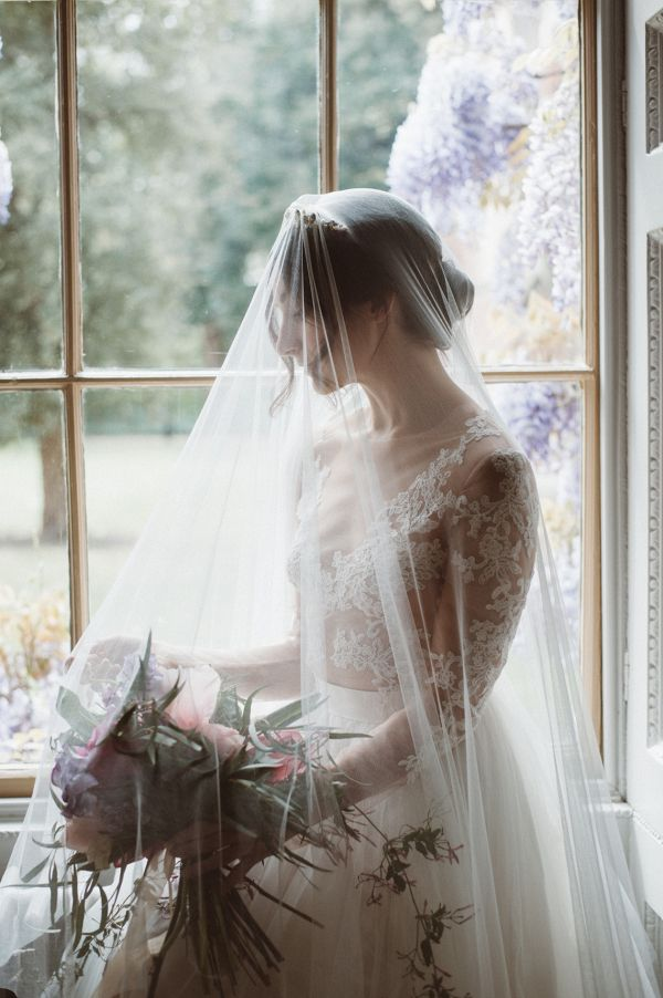 Veiled bride    #wedding #weddings #weddinginspiration #aislesociety #moodywedding