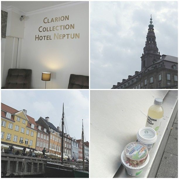 Loving Copenhagen already ♡ #love #copenhagen #københavn #denmark #beautiful #city #clarion #neptun #hotel #nyhavn #lunch #yogurt #latte #vitaminwell #stevia #yum #buildings #sightseeing #boat #summer #august