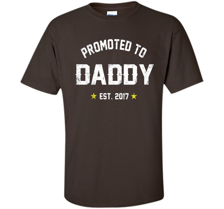 Mens Promoted To Daddy 2017 Shirt