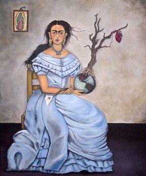 Frida Kahlo stretched canvas print  by DavidFloresArte on Etsy, $ 50.00