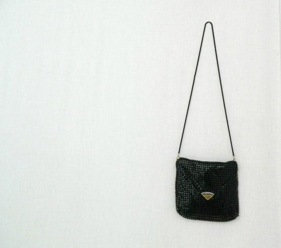 DESLEY . vintage women's black mesh evening by ThePaisley5Vintage