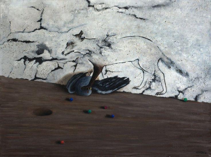 Toyen (1902 - 1980), Na zámku La Coste (1943) olej, plátno, 67 x 90 cm