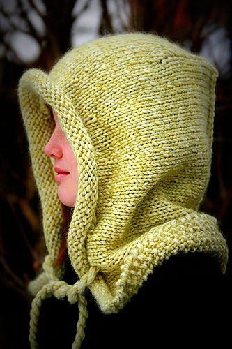 Helvellyn ~ Stylin Oversized Hood: free knitting pattern. Very cool.
