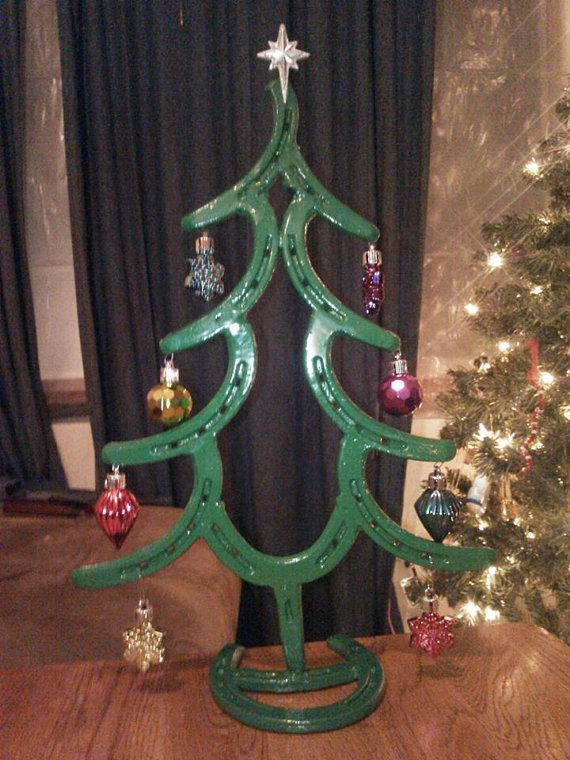 Christmas tree made from Horse Shoes by LawsonsMetalCreation www.facebook.com/lawsonsmetalcreations