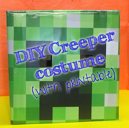 DIY: Minecraft Creeper Costume (with printable) | StLMotherhood