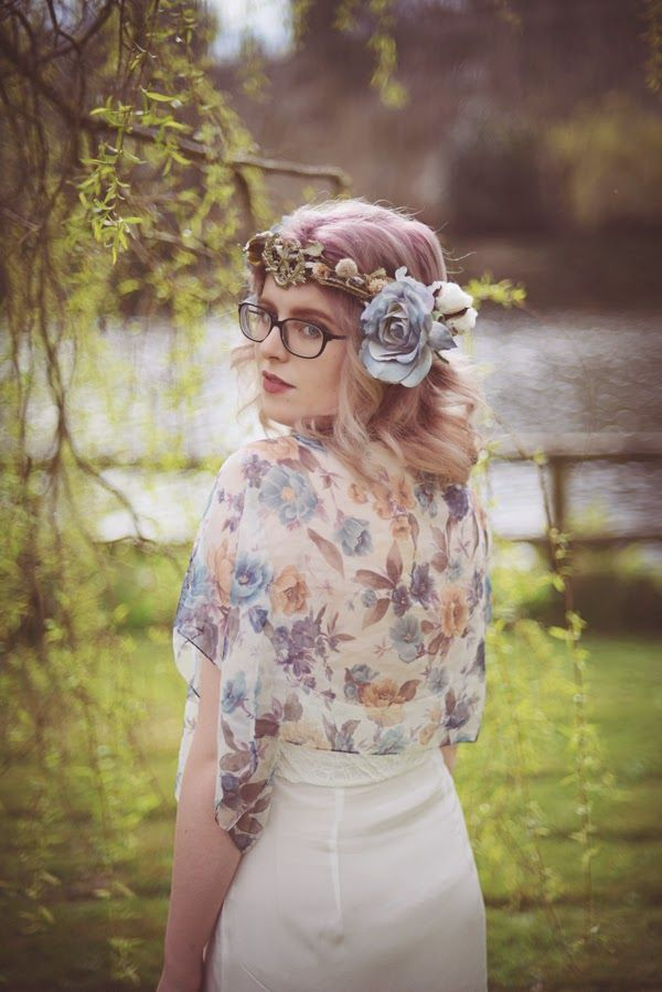 Fashion Revolution Day 2015   Flower Crown and Floral Scarf Top: Alice Halliday  Dress: Wear We Wander  Photo: Kate Bean Photography Model: Zoe with Umlauts  MUA: Make-up of Wonder by Vali  Hair: Powder & Plait by Mary T