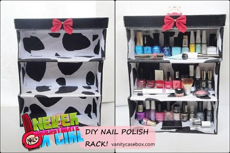 Vanity Case Box: DIY Nail Polish Rack, nail polish storage, nail polish organizer, how to make a nail polish rack, simple nail polish stand DIY, jewellery photography, makeup photography,, vanitycasebox, indian makeup and beauty blog