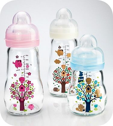 Our Glass Bottle is available in 2 different sizes and 3 different designs! All of my babies (and nieces/nephews) Loved MAM bottles