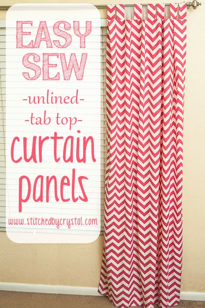 How to sew easy top tab curtains