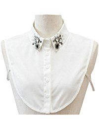 New Joyci Fashion New Arrival Women's False Collar Diamond Leaf Half Shirt Fake Collar online. Find the perfect Riverberry Tops-Tees from top store. Sku OOVA22194NGCD94172