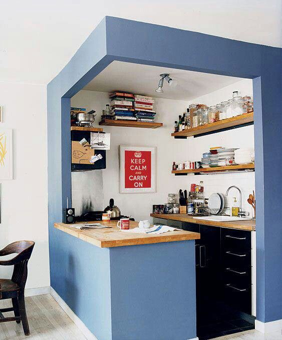 Charmant Making A Small Kitchen Stand Out With Creative Paint. (Could Create Any  Covey With