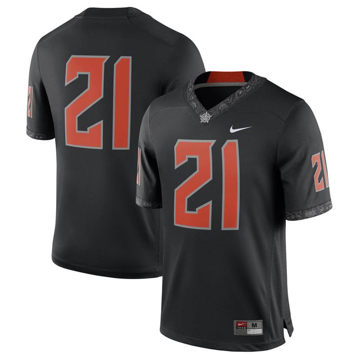 #21 Oklahoma State Cowboys Nike Game Football Jersey - Black