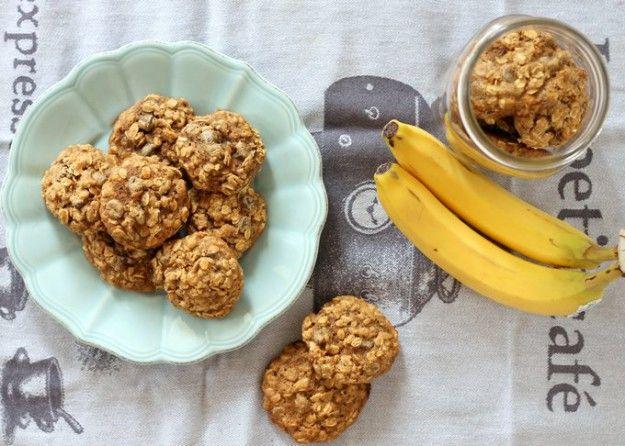Невероятно вкусное и быстрое  печенье из бананов и овсянки