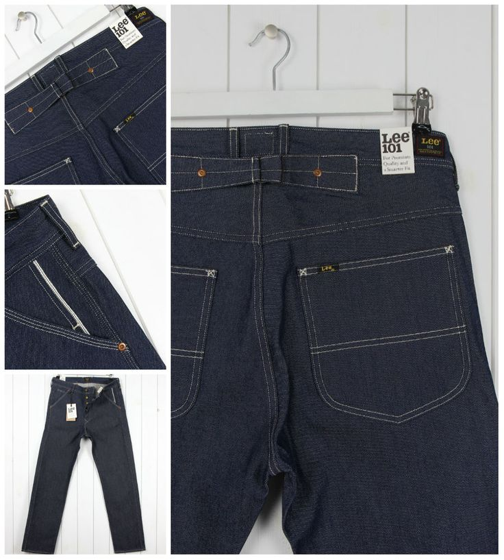NEW LEE 101B UNION JEANS 13oz  DRY/RAW SELVEDGE STRAIGHT LOOSE FIT W32 L32 32X32
