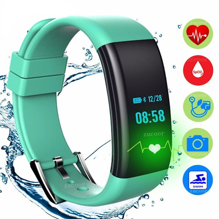 IP68 Smart Band Bracelet Watch Blood Pressure Oxygen Heart Rate Monito