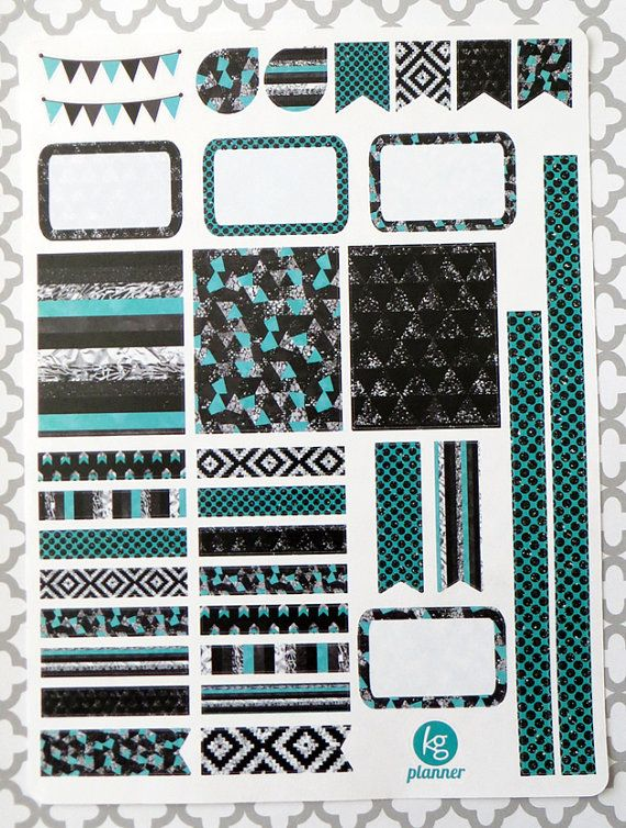 Turquoise Glitz Decorating Kit / Weekly Spread by KGPlanner