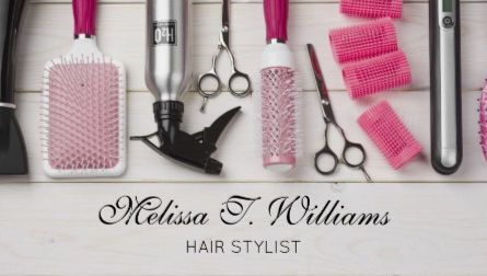 Y Pink Hair Salon Supplies Photograph Stylist And Business Cards Https