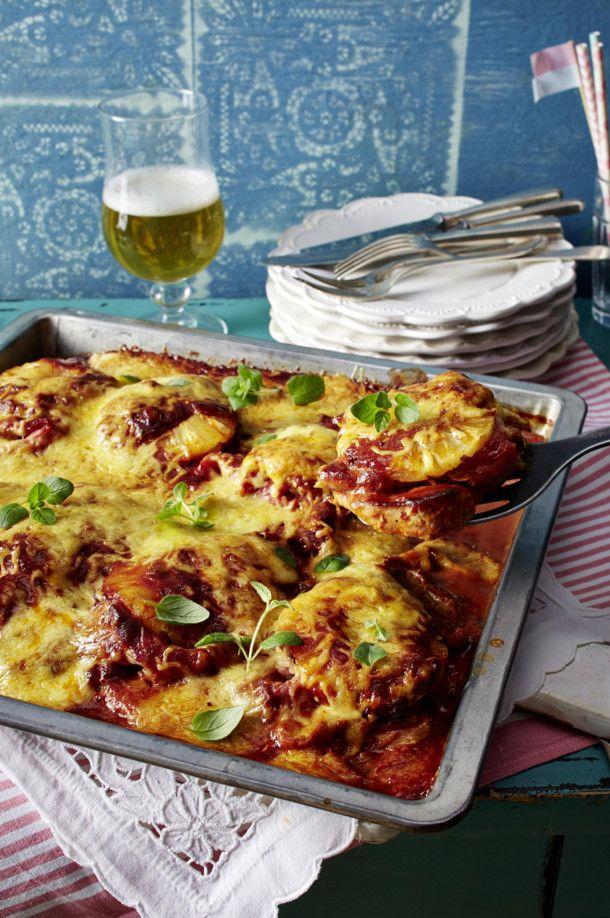 Unser beliebtes Rezept für Schnitzel-Pizza Hawaii und mehr als 55.000 weitere kostenlose Rezepte auf LECKER.de.