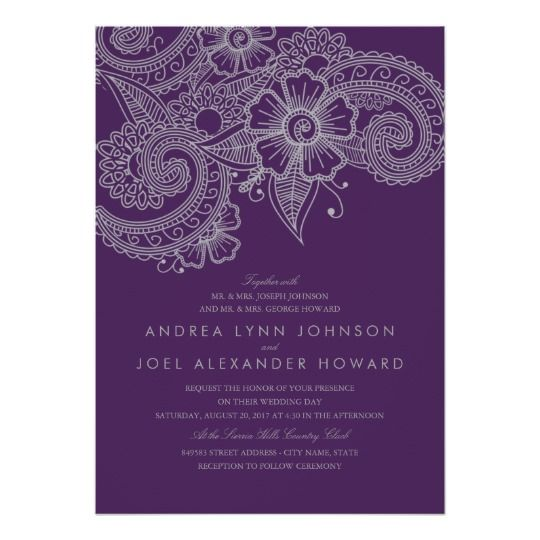 Silver Indian Wedding Invitation: 80 Best Purple And Gray / Silver Wedding Images On