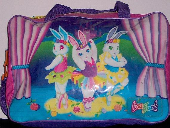 Authentic Lisa Frank Ballerina Bunny Duffel Bag by LolidollDiy,