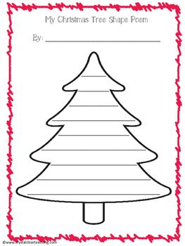 Writing A Complete Christmas Tree Shape Poem Start To Finish Poems Shapes Worksheets