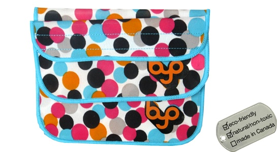 Neoprene BYO Sandwich and Snack Sleeve Pack - dots large/small 2-pk